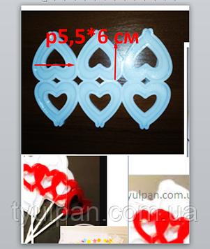 2D Форма силиконовая сердечки 6*5,5 см молд для изомальта леденцов шоколада