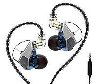 Проводные гибридные HiFi наушники TRN ST1 c микрофоном Blue (Гарнитура TRN ST1)