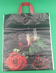 "Пакет з петлевий ручкою 42см 50см ""Троянда-Келих"" ХВГ (25 шт)"