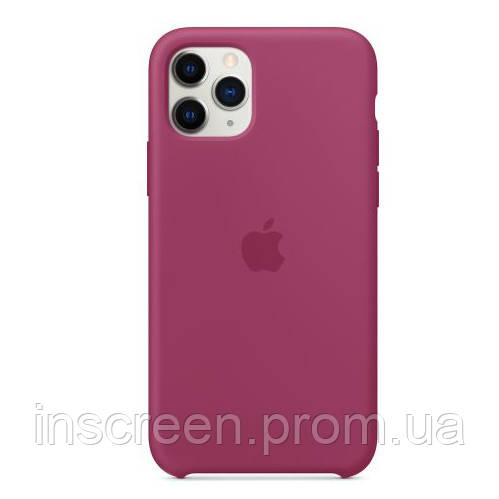 Чехол силиконовый Silicone Case High Copy для Apple iPhone 11 Pro Max Pomegranate, фото 2