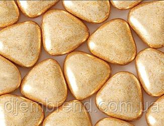 Драже Сердечко шоколадное в золотой глазури, 15 мм, стик-пакет, 5 шт