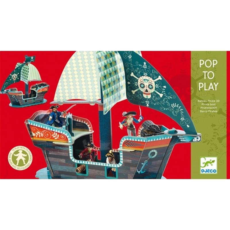 DJECO Конструктор піратський корабель