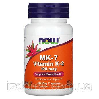 Now Foods, Витамин К-2 МК-7 (менахинон), 100 мкг, 60 капсул