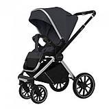 Детская универсальная коляска CARRELLO Optima CRL-6503 (2in1 Platinum Grey темно-серая в льне резиновые колеса, фото 2