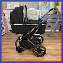 Детская универсальная коляска CARRELLO Aurora CRL-6505 (2in1) Iron Grey серая резиновые колеса + дождевик