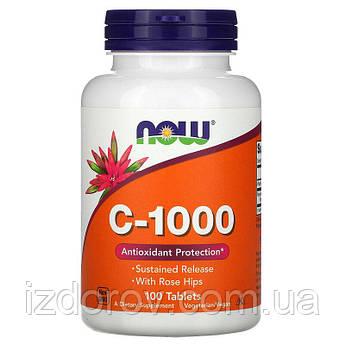 Now Foods, Витамин C 1000 мг, для укрепления иммунитета, Vitamin C, 100 таблеток