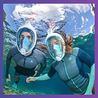 Маска для снорклинга подводного плавания Free Breath ныряния под водой