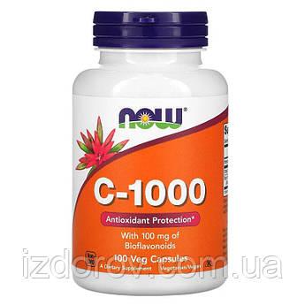 Now Foods, C-1000 для иммунитета с цитрусовыми биофлавоноидами и рутином, 100 растительных капсул. США