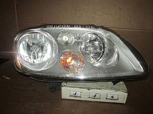 №448 Б/у фара права  1T0941006R  для VW Touran  2003-2006 (Дефект)
