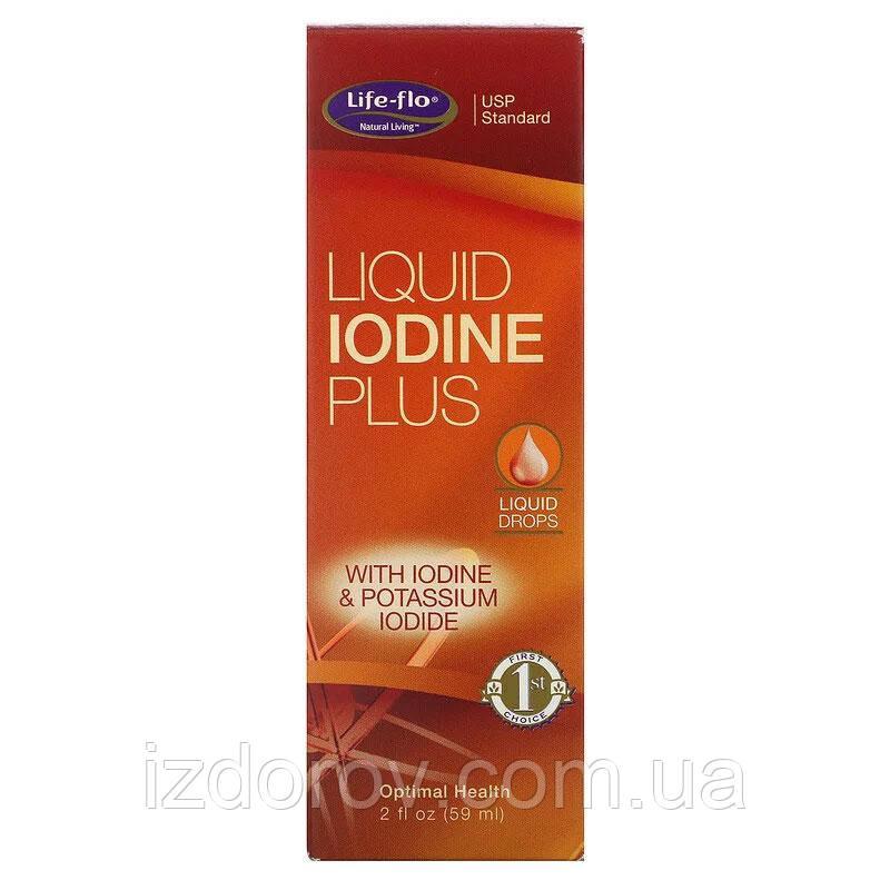 Life-flo, Жидкий йод плюс для здоровья щитовидной железы, 59 мл. США