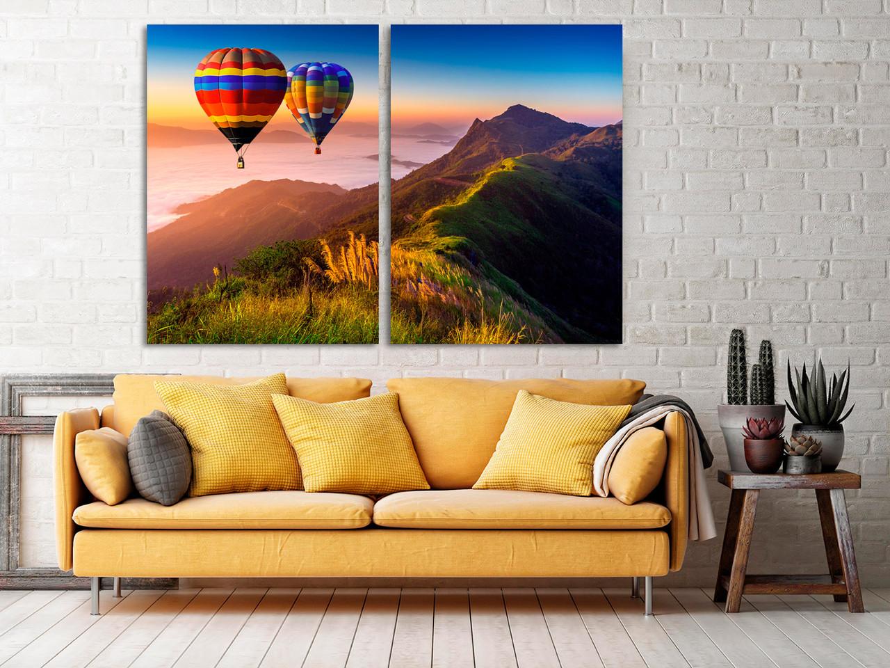 Модульная картина на холсте, картина в зал, детскую, спальню, прихожую, гостиную