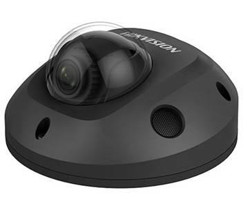 6Мп міні IP відеокамера Hikvision з ІЧ підсвічуванням DS-2CD2563G0-IS (2.8 мм) чорна, фото 2