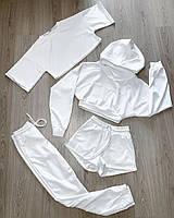 Универсальный повседневный костюм-четверка из двунитки с капюшоном, фото 1