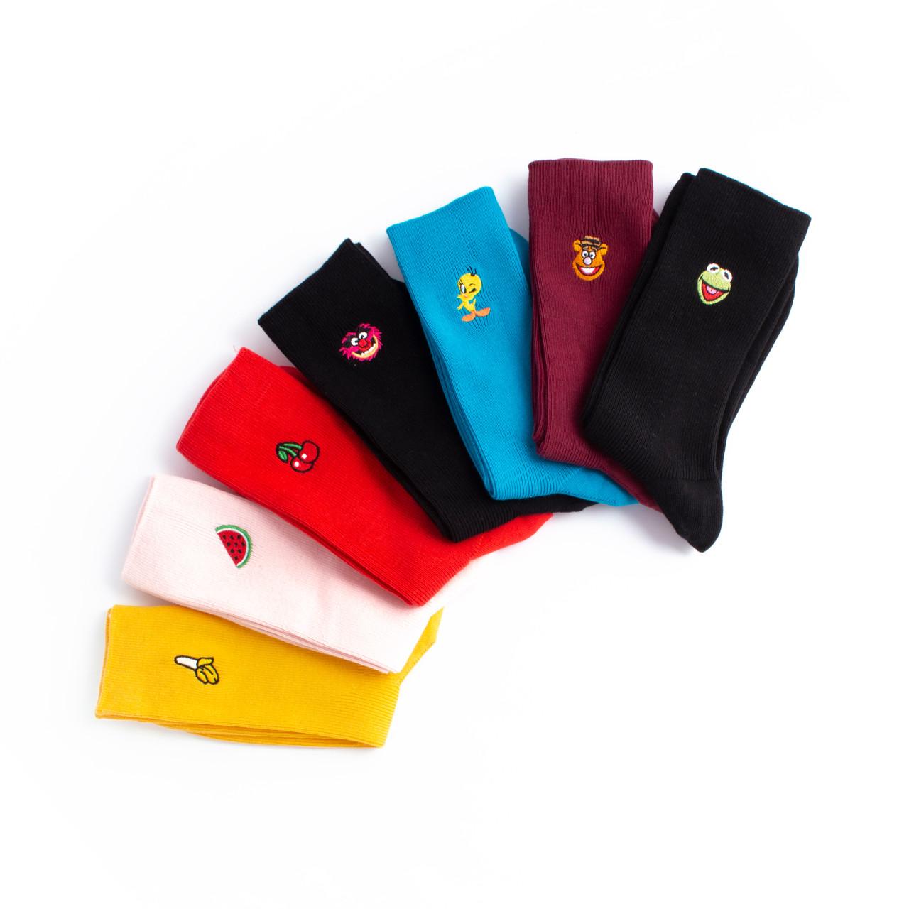 Набір шкарпеток з 7 пар Premium з вишивкою
