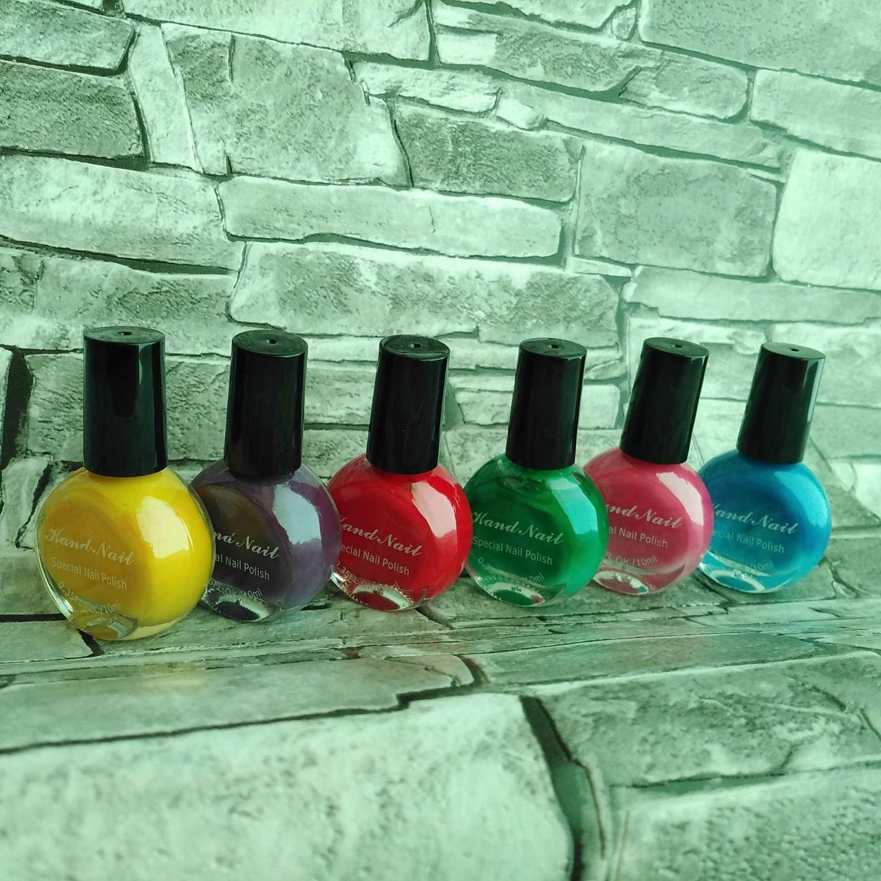 Набор лак-красок для стемпинга 6 шт.