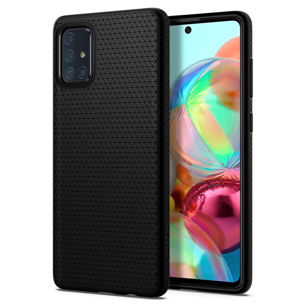 Чохол Spigen Liquid Air Samsung A715 Galaxy A71 Matte Black (ACS00602)