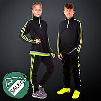 Распродажа! Костюм спортивный детскийLIDONG Кофта и штаны для мальчика девочки Черно-зелёный (LD-2001T) 32