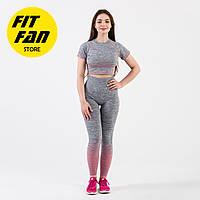 Женский спортивный костюм для фитнеса бега йоги Fit Fan Gradient