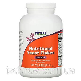 Now Foods, Пищевые дрожжи в хлопьях, Nutritional Yeast Flakes, 284 г