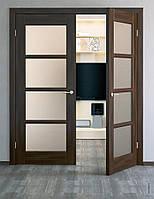 Двостулкові міжкімнатні двері, двопільні двері, шпоновані міжкімнатні двері, двері в шпоні