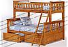 Кровати двухъярусные Жасмин (с широким спальным местом)