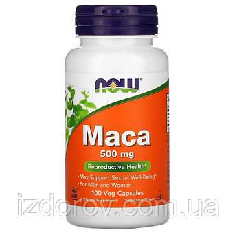 Now Foods, Мака 500 мг, Maca, 100 растительных капсул