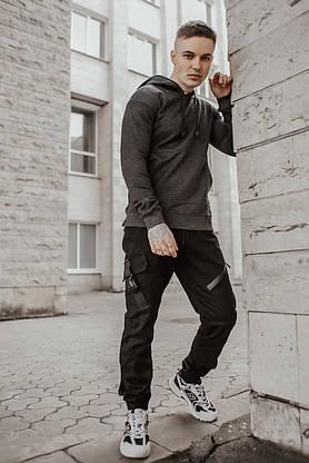 Худи Мужское Intruder 'Spark' темно серое спортивная кофта трикотаж, фото 3