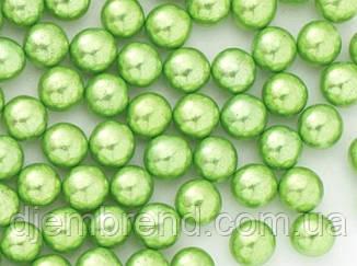 Посипання кульки металік, зелені, 5 мм, 1 стік