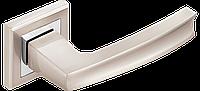 Ручка дверная A-1355 SN/CP матовый никель/ полированный хром