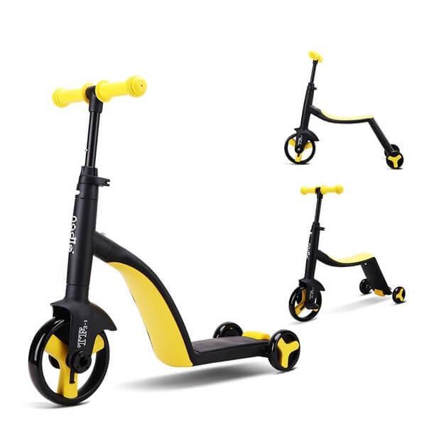 Дитячий велосипед трансформер 3 в 1 жовтий Nadle TF3-1