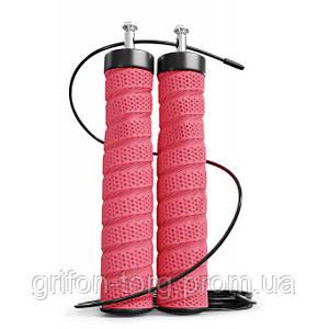 Скакалка з підшипниками та м'якою рукояткою HS-P030JR red