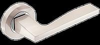 Ручка дверная A-1220 SN/CP  матовый никель/ полированный хром