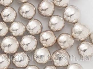 Посыпка шарики серебряные, 7 мм, 1 стик - 10 шт.