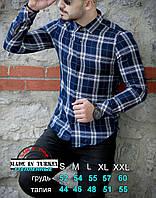 Рубашка мужская кашемировая с длинным рукавом Rubaska  Турция