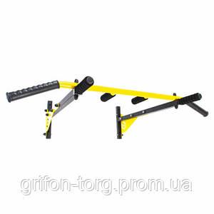 Турнік настінний Besport BS-T0204 з 6 ручками жовтий