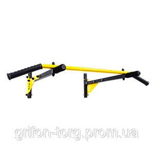 Турнік настінний Besport BS-T0202 з 4 ручками жовтий