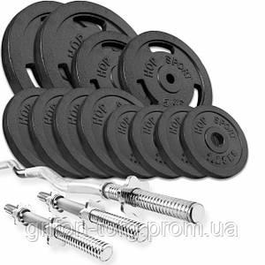 Набір STRONG 57 кг з W або Z подібним і гантельними грифами