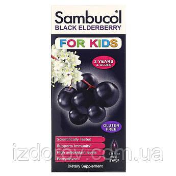 Sambucol, Сироп из черной бузины, для детей, ягодный аромат, 230 мл