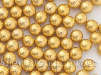 Посыпка шарики золотые, 5 мм, 1 стик - 30 шт