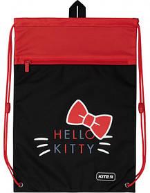 Сумка для обуви с карманом Kite Education Hello Kitty 46x33 см Черно-красная (HK20-601M-2)