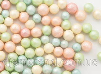 Посыпка круглая, перламутровая цветная, 5 мм, 1 стик - 35 шт