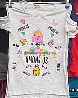 Футболка (Among Us) для девочки 11-15 лет опт (пр.Турция)