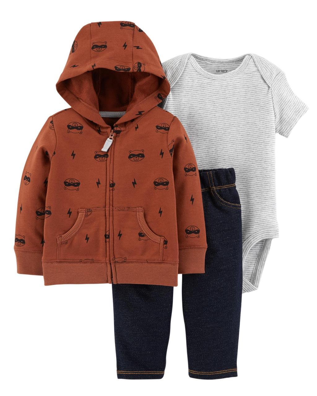 Комплект для хлопчика carter's (курточка, боді, штани), 6міс