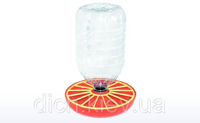 Вакуумная поилка для кур под бутылку 3-6 литров, ВП-2
