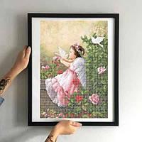 Картина Ангелок з голубами ЗПА-008