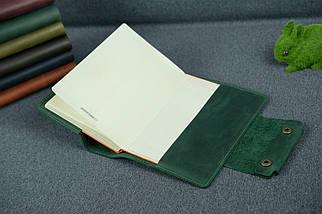"""Обложка для блокнота А5 """"Модель № 2"""", Винтажная кожа, цвет Зеленый, фото 3"""