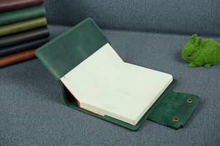 """Обложка для блокнота А5 """"Модель № 2"""", Винтажная кожа, цвет Зеленый, фото 2"""