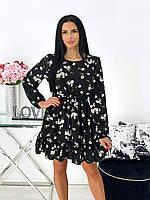 Женское летнее  платье с длинным рукавом.Новинка 2020