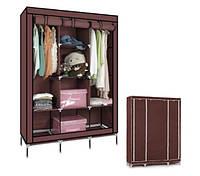 Тканевый складной шкаф  для одежды и обуви 175х130х45 см Storage Wardrobe 88130, фото 1