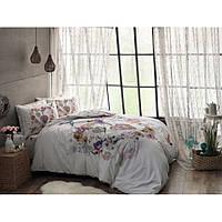 Семейное постельное белье TAC ранфорс, плотный качественный материал (100 хлопок), Турция, розовый
